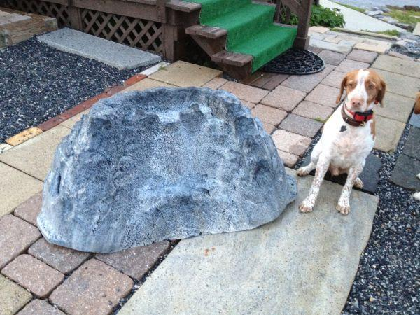 Large fake rock for fish pond fountain dillsburg for for Fake fish for pond
