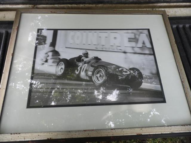 Large Framed Auto Racing Pictures