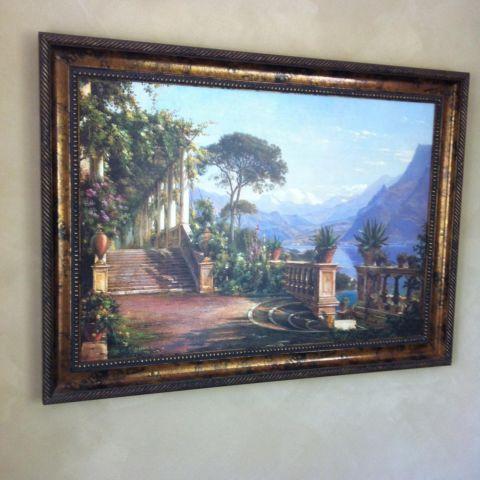 Large framed tuscan italian print landscape frame for for Large prints for sale
