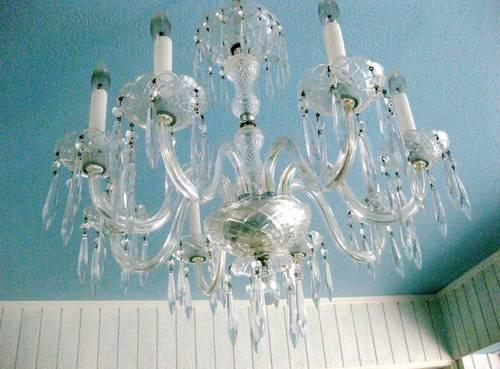 Large French Provincial CRYSTAL CHANDELIER