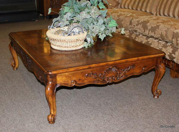 Large French Style Henredon Coffee Table Spring North