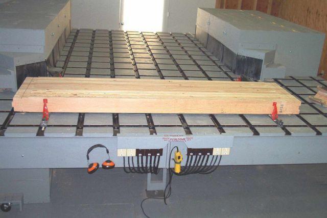 Large Gang Multi Saw Production Table Dado Custom Built