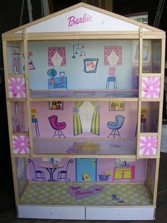 Large Huge Barbie Doll Play House Wood Frame For Sale In Worcester