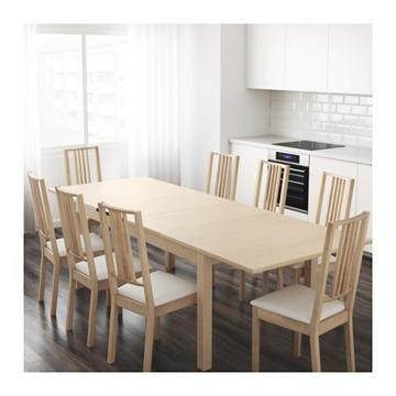 Large Ikea Bjursta Extendable Dining Table