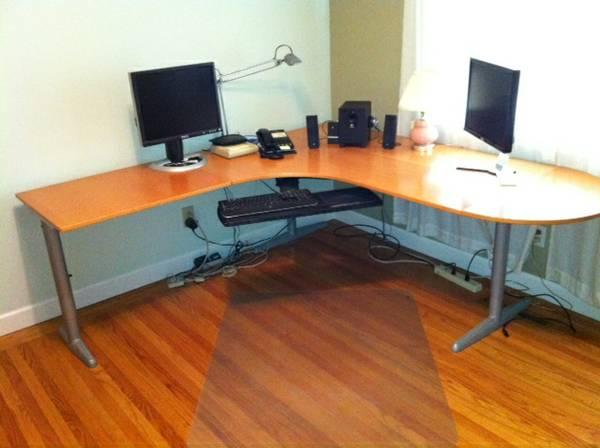 Large Ikea Effektiv L Shaped Desk For Sale In Palo