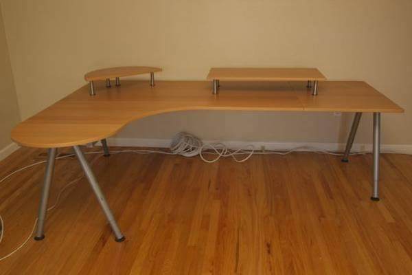large ikea galant desk and accessories for sale in