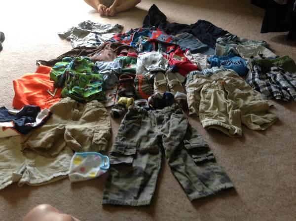 large lot of name brand baby clothes and shoes - $35