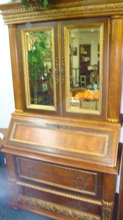 Large Ornate Secretary Desk Reduced For Sale In Clemmons North