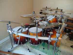large pearl drum kit w cymbals boiling springs sc for sale in greenville south carolina. Black Bedroom Furniture Sets. Home Design Ideas