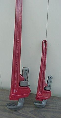LARGE PIPE WRENCHES 24 & 14 INCHES