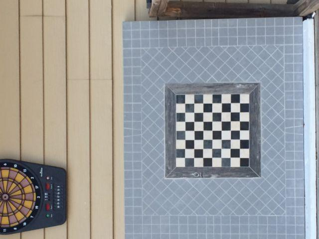 Large porcelain chess table top
