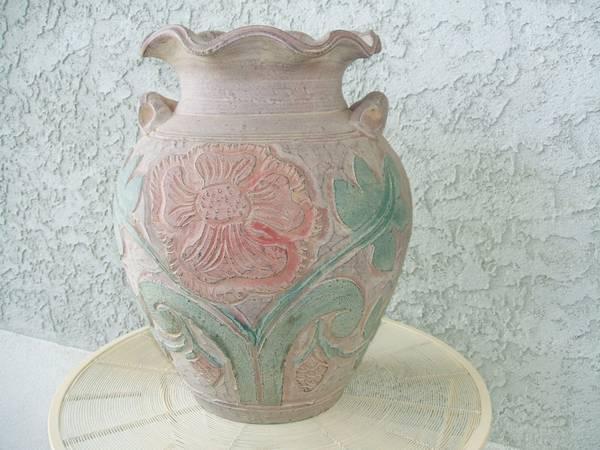 Large Pottery Vase - $15