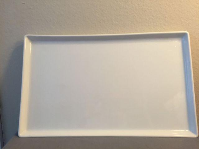Large Rectangled Crate And Barrel Serving Platters For Sale In