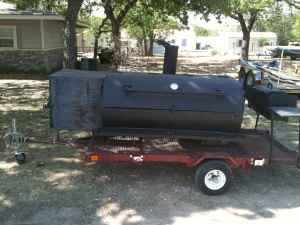 Large Smoker/Bar B Q Pit on trailer for sale or trade
