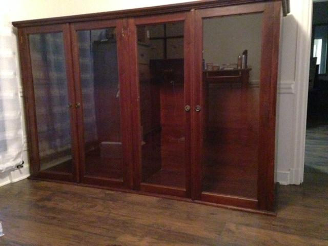 Large Solid Wood Display Cabinet