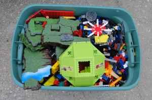large tote full of mega blocks ensley pensacola for