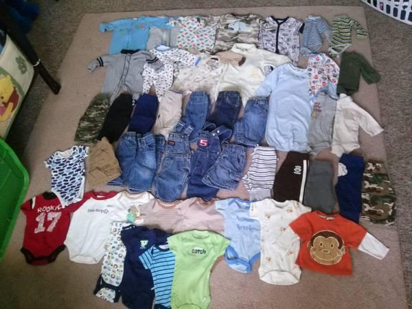 large tote of baby boy clothes,socks,and shoes!! - $130