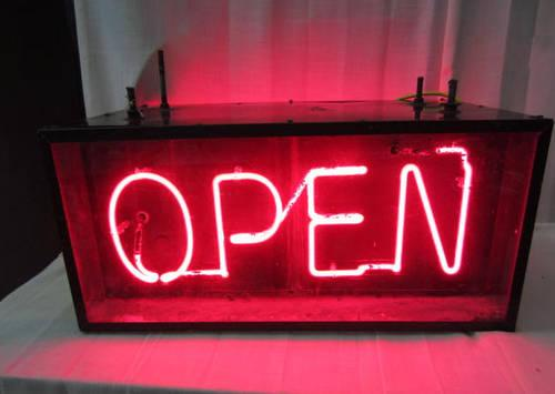 neon sign open sided rockford americanlisted michigan