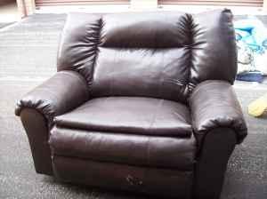 Large Vinyl Oversize Chair   $60 (Bloomington)