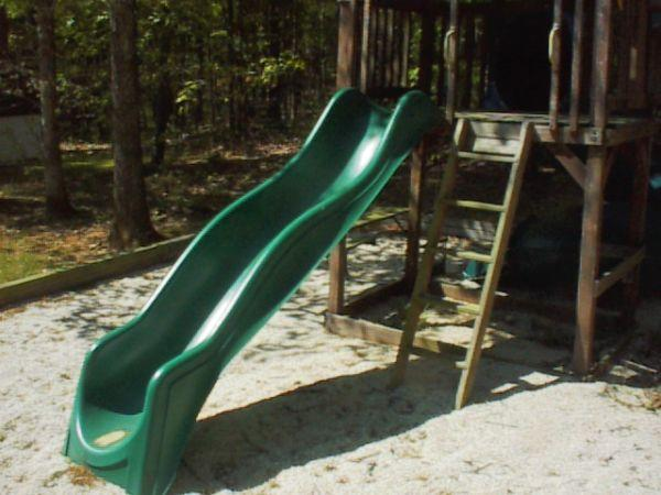 Large Wavy Sliding Board For Outdoor Swing Set Forest