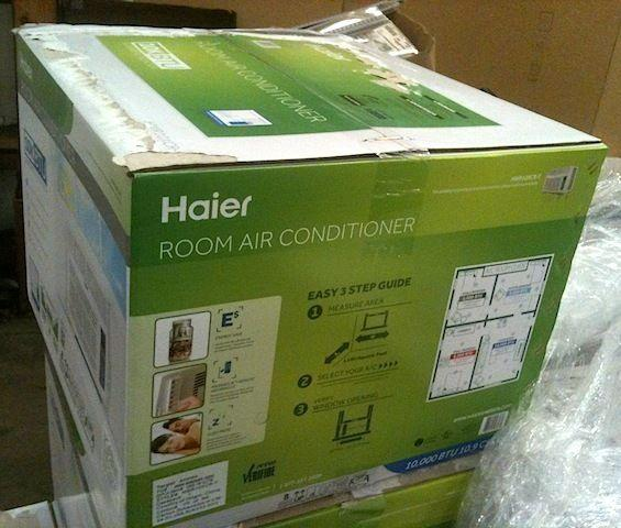 large window air conditioner Haier 10K BTU, new in box