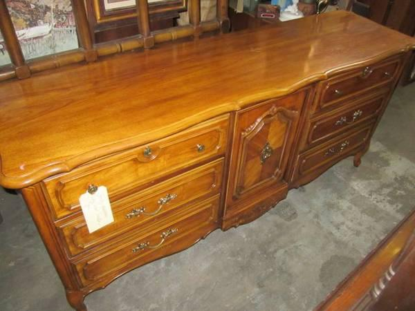Large Wood Dresser And Mirror From Stanley Furniture Company For