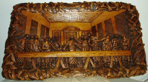 Last Supper 3d Hand Crafted Woodcarving For Sale In Elverta