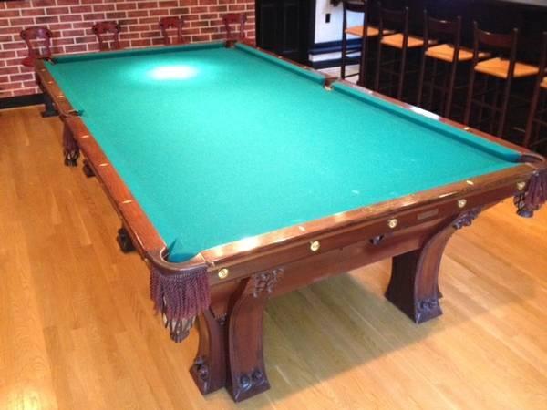 Late 1800 39 s antique brunswick balke collender pfister for 10 foot snooker table for sale