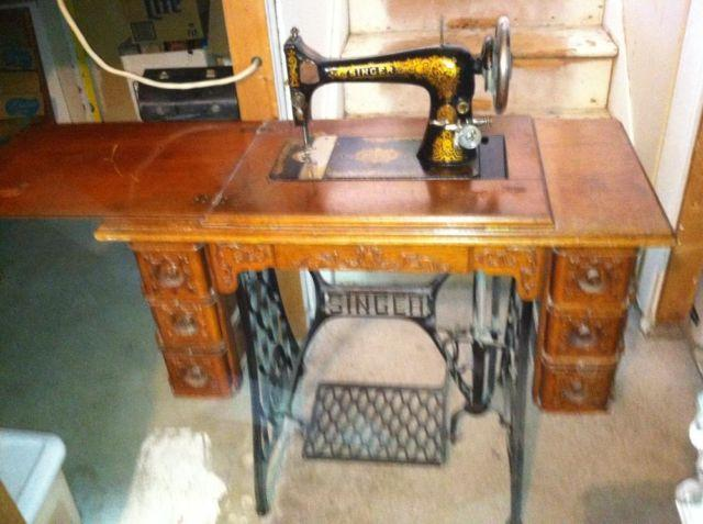 Davis Treadle Sewing Machine Classifieds Buy Sell Davis Treadle Simple 1902 Singer Treadle Sewing Machine