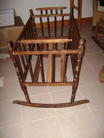 Late Victorian Wooden Cradle - $100