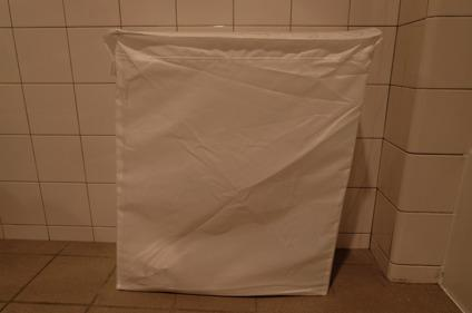 Laundry bag with stand