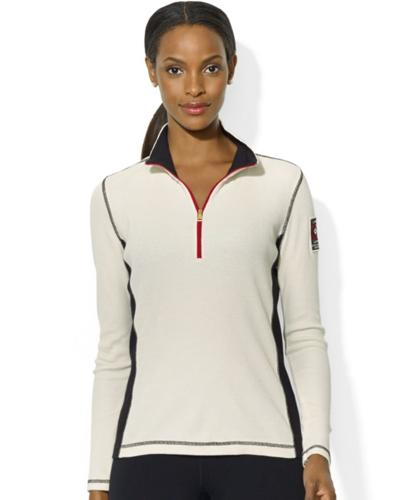 Lauren Ralph Lauren Long-Sleeve Colorblocked Half-Zip