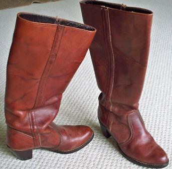 Leather Boots - Ladies tall Dexter made in the USA Size 8.5