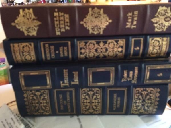 Leather bound books- classics, great condition - $35