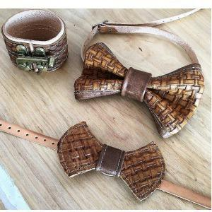 Leather Bowtie by Cuffed Design