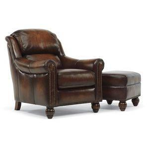 Leather Chair And Ottoman Set By Flexsteel Abington For Sale In Philadelphia Pennsylvania