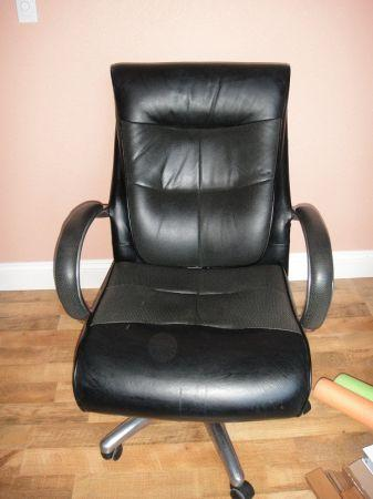 leather computer chair LK - $55 springfield