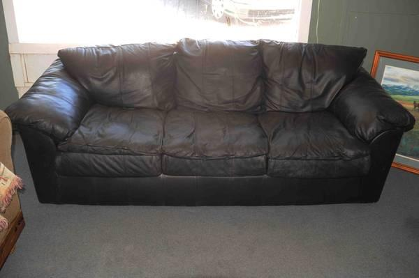 Leather couch &Regular couch - $150