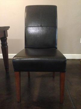 Leather Dining Chairs   World Market