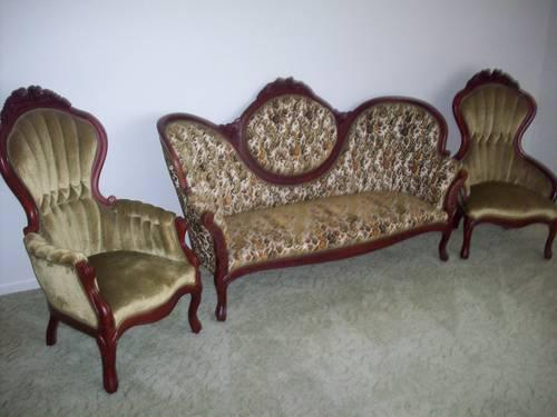 Leather Off White Couch And 2 Chairs For Sale In