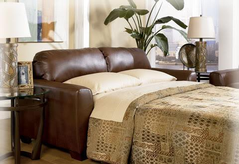 Leather Queen Sleeper Sofa New West Cleveland For Sale