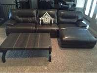 LEATHER Sectional / Couch - 3 Zero Recliners