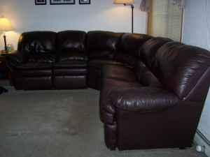 Leather Sectional Sofa with 2 recliners and a