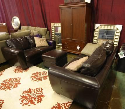 Swell Leather Solid Wood Mission Style Chair Ottoman Clearance Ibusinesslaw Wood Chair Design Ideas Ibusinesslaworg