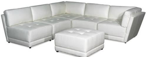 leather white modular sectional