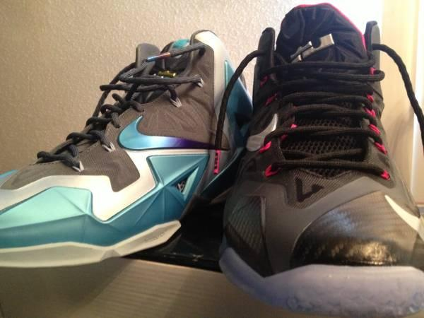 752cd79b25de Lebron 11 Gamma Blue and Lebron 11s Miami Nights size 13 - for Sale ...