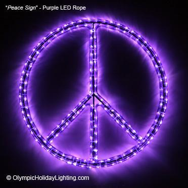 Led peace sign lighted rope light novelty display purple for sale led peace sign lighted rope light novelty display aloadofball Gallery