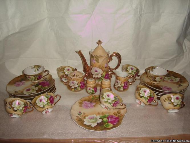 Lefton China Handpainted Snack Set For Sale In Roscoe