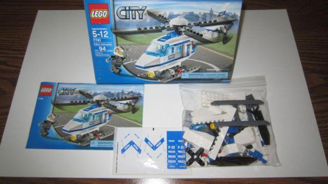 Lego City Police Helicopter And Prisoner Transport For Sale In