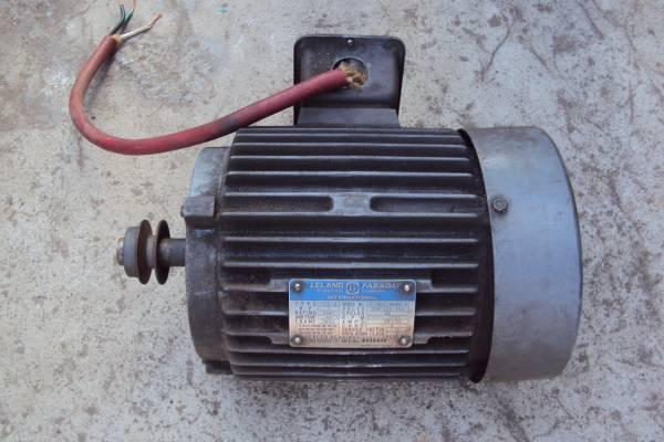 Leland faraday electric company 2 hp 3 phase motor for for 3 phase motor for sale